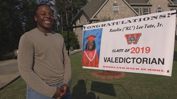He's the 1st African-American Male valedictorian at his Georgia high school and is graduating with a 4.7 GPA