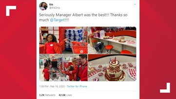 She loves Target so she had her 8th birthday party there!