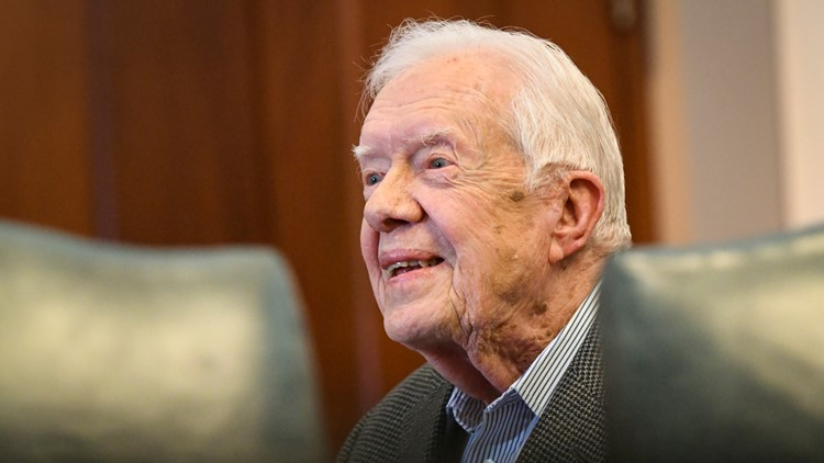 Jimmy Carter admitted to hospital for reported pressure on brain